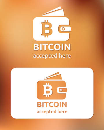 bitcoin accepted Vector