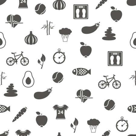 bike cover: health lifestyle seamless pattern