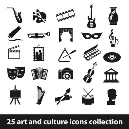 25 art and culture icon collection Imagens - 26708146