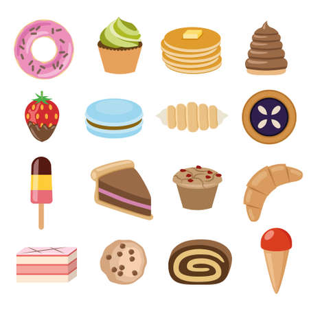 desserts collection Stock Vector - 26708187