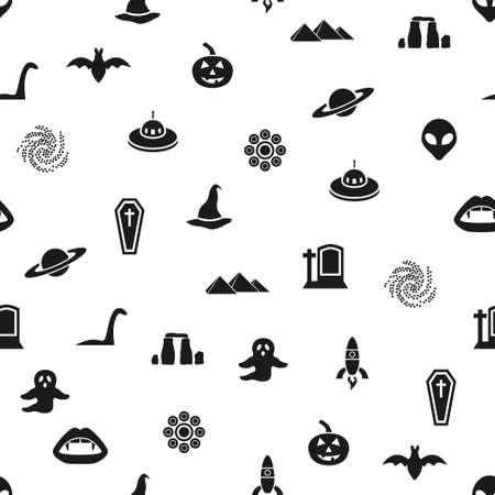 loch: mystic seamless pattern Illustration