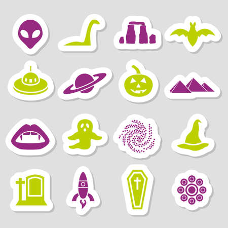 mystic stickers Vector