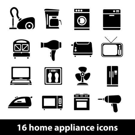 huishoudelijke apparatuur pictogrammen
