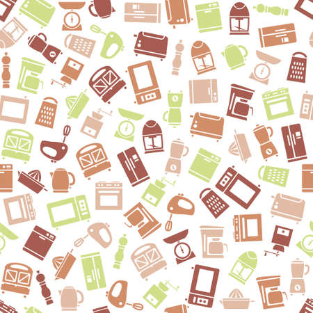 kitchen appliances: kitchen appliances and tools seamless pattern