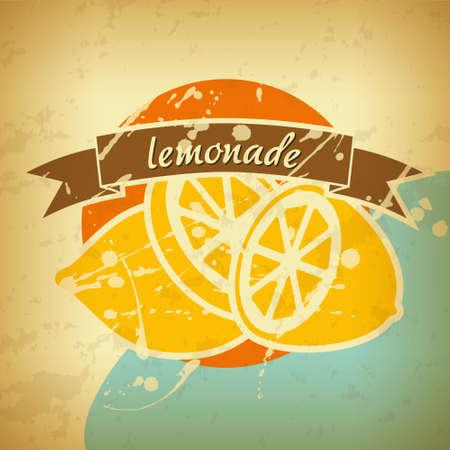 lemonade retro poster Vector