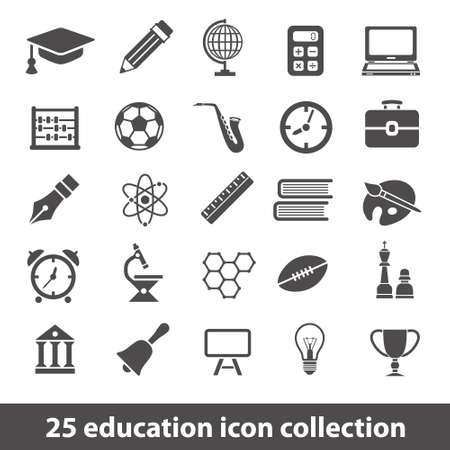 computer education: education icons Illustration