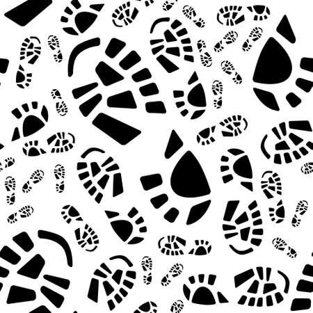 shoe print: shoe print seamless pattern