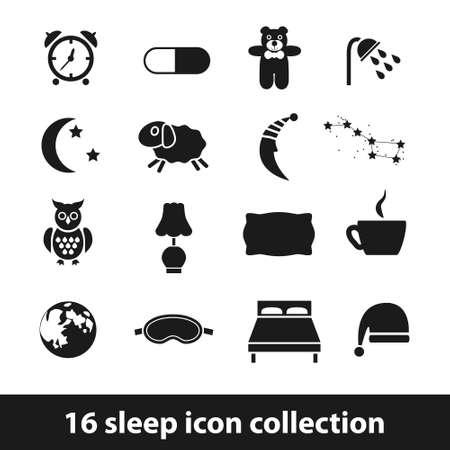 buonanotte: Icone del sonno Vettoriali