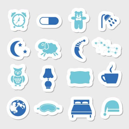 sleep stickers 免版税图像 - 29494014
