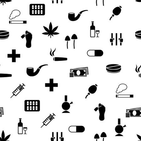 drug seamless pattern Vector