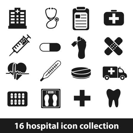 infirmary: hospital icons