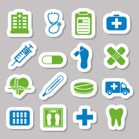 infirmary: hospital stickers Illustration