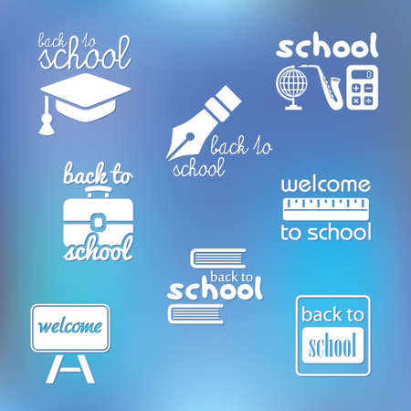 back to school symbols Vector