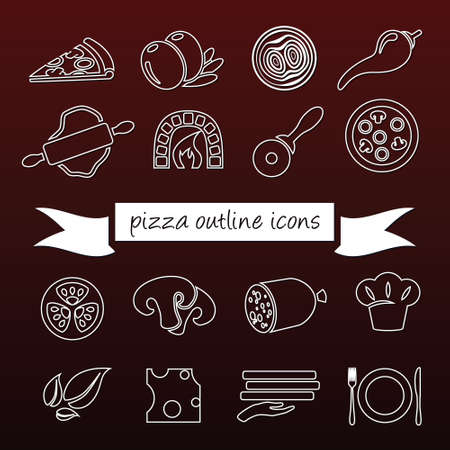 pizza outline icons