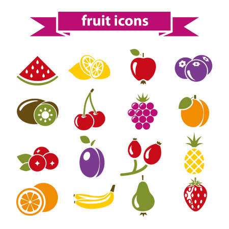 cranberry illustration: fruit icons