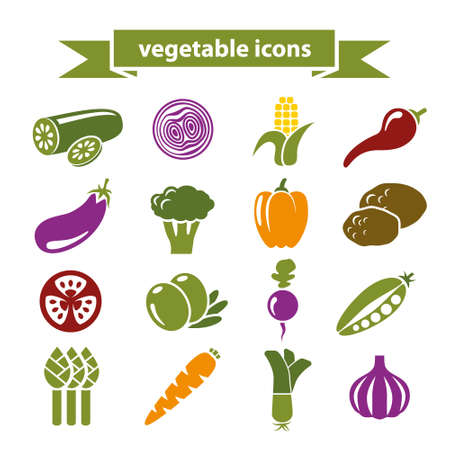 aubergine: vegetable icons