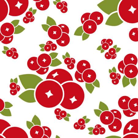 cranberry: cranberry seamless pattern Illustration