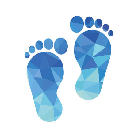 sole of the foot icon Illustration