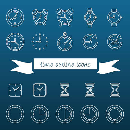 time outline icons Vector