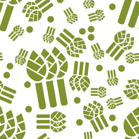 asparagus: asparagus seamless pattern