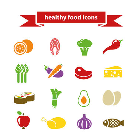 food ingredient: healthy food icons