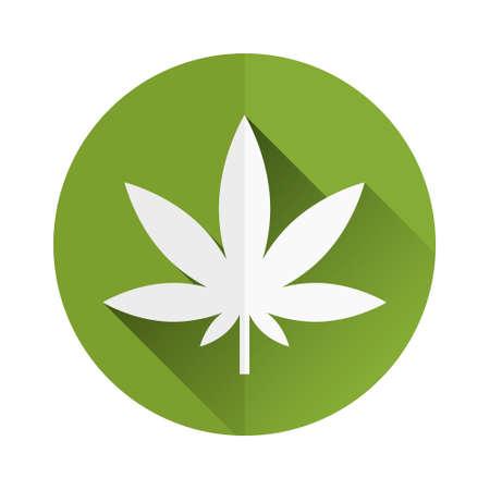 marihuana: icono de malezas Vectores