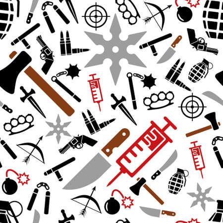 machete: weapon seamless pattern