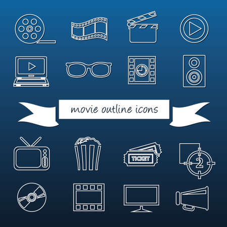 flapping: movie outline icons