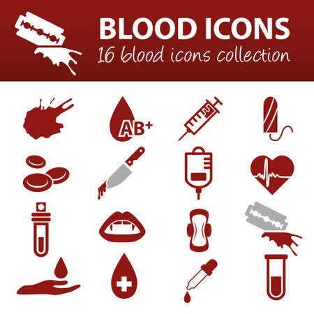 blood drops: blood icons