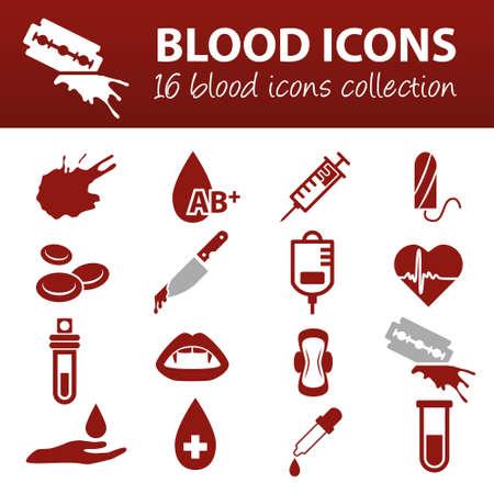 tubo de ensayo: iconos de sangre