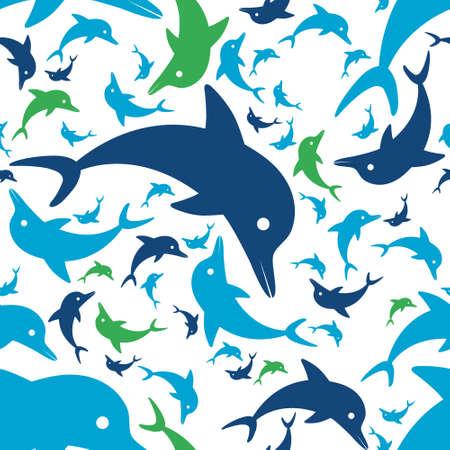 delfin: Delfin szwu wzór Ilustracja