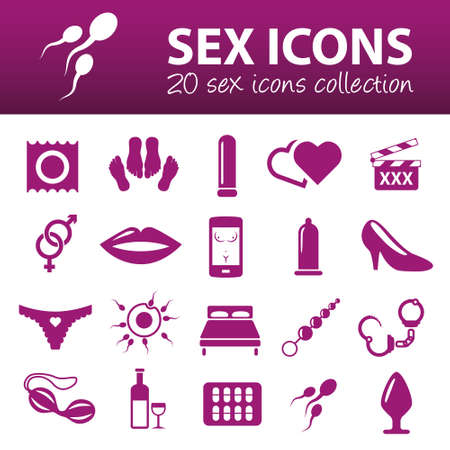 bed sex: sex icons Illustration