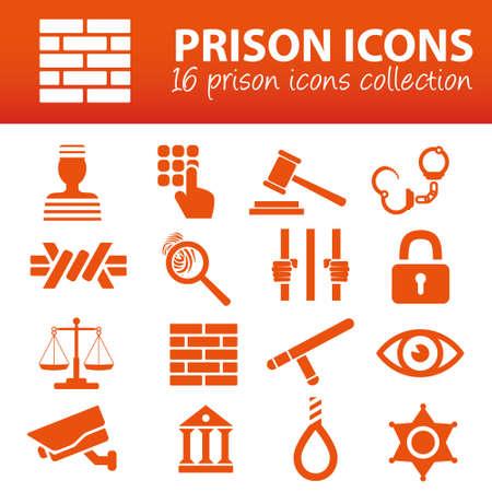 criminal act: prison icons