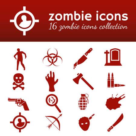 machete: zombie icons Illustration