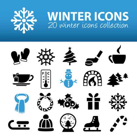 christmas tea: winter icons