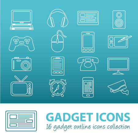 gadget outline icons Illustration