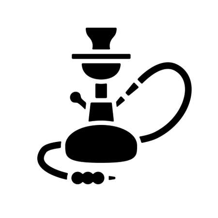 narghil�: Icona narghil� Vettoriali