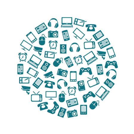 gadget: gadget icons in circle