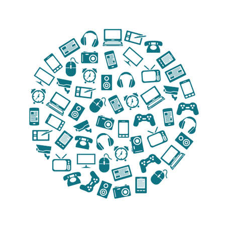 gadget: ic�nes gadget dans le cercle