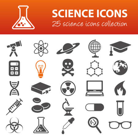 fire skull: science icons