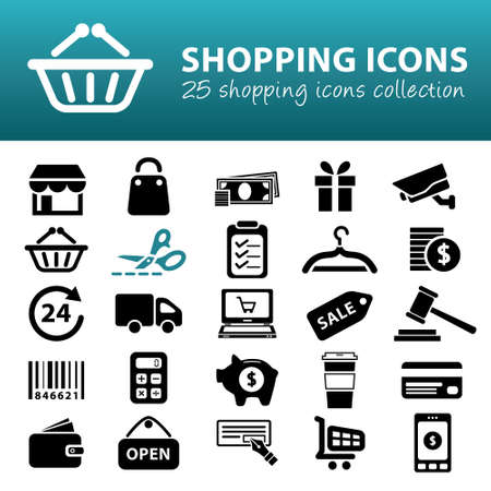 smart card: shopping icons