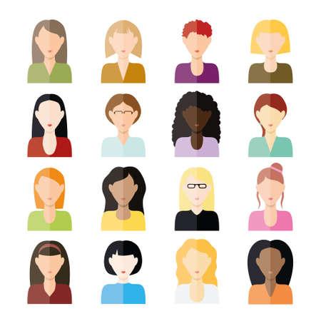 vrouwen pictogrammen Stock Illustratie