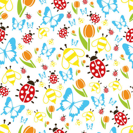 spring time: spring seamless pattern