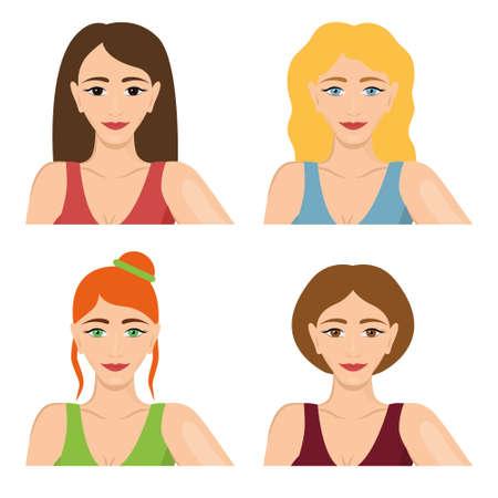 pretty smile: four women