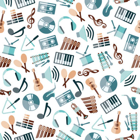 cd cover: music seamless pattern