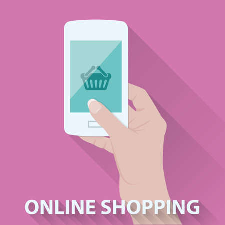 woman cellphone: online shopping