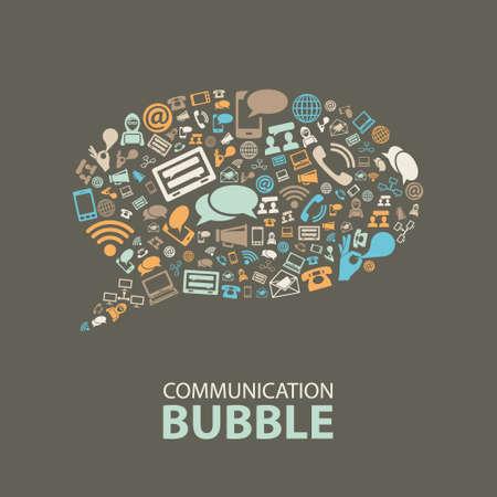 通信バブル  イラスト・ベクター素材