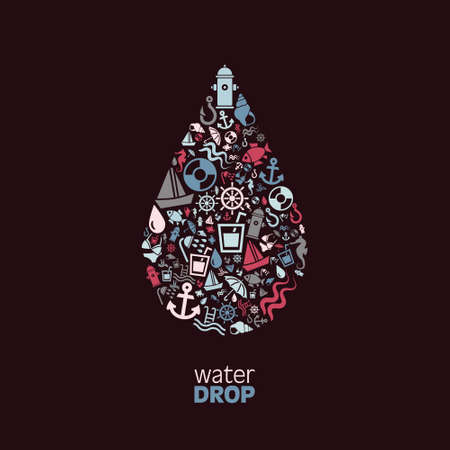 rescue signs: water drop