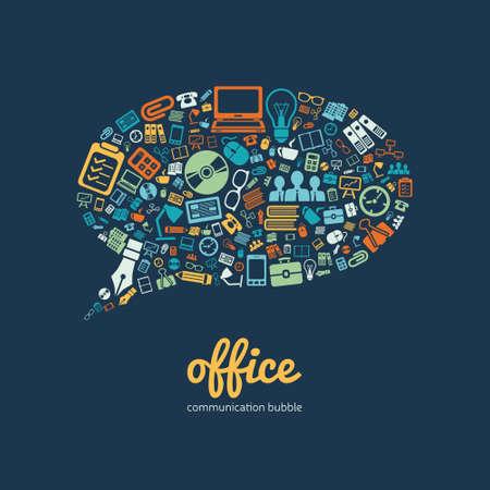 office communication bubble