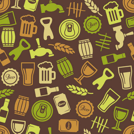 seamless texture: beer seamless pattern Illustration